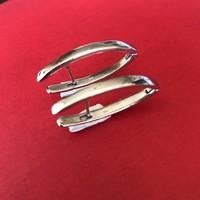 Oorbellen, model STANG GLAD, zilver, Eigen Collectie
