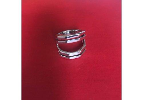 Eigen Collectie Ring, model RAAT, zilver, Eigen Collectie