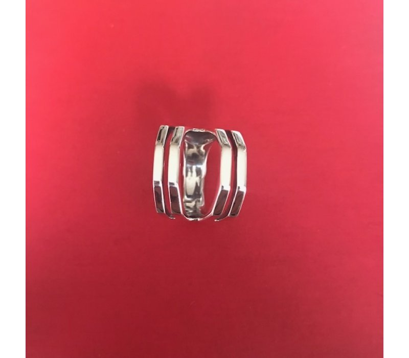 Ring, model RAAT, zilver, Eigen Collectie