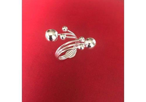 Eigen Collectie Ring, model 6 BOLLEN, zilver, Eigen Collectie