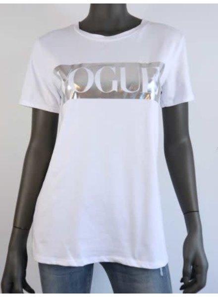 t-shirt met voque opruk zilver
