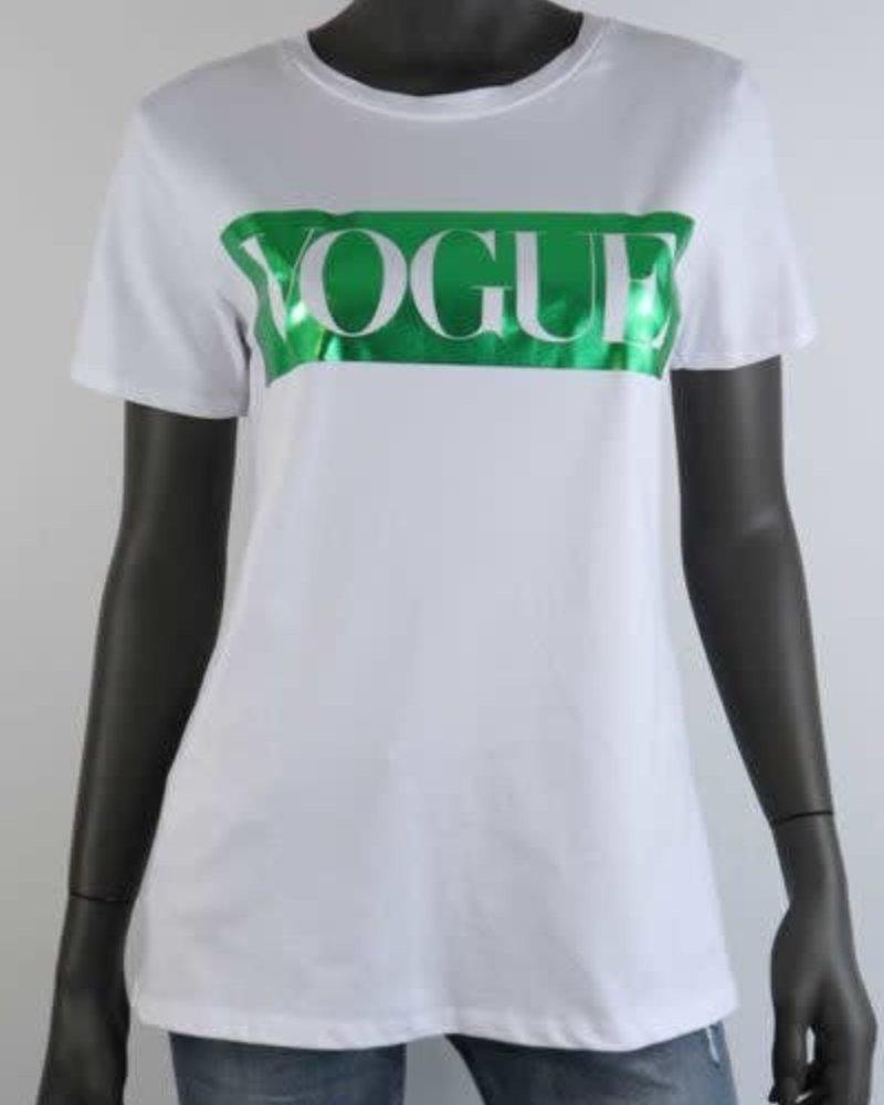 t-shirt met opdruk voque groen