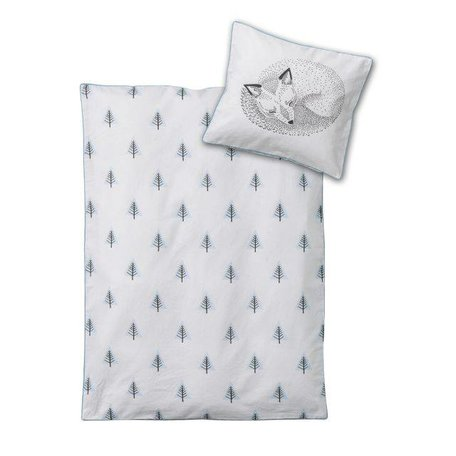 baby duvet blue fox