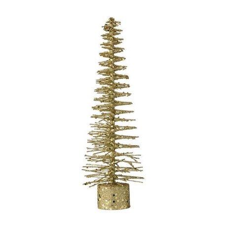 Deco kerstboompje goud glitter