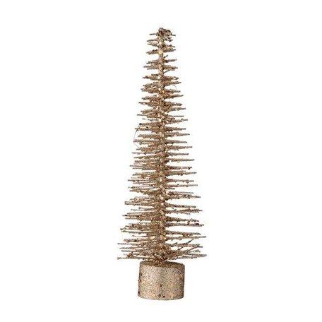 Deco kerstboompje koper glitter