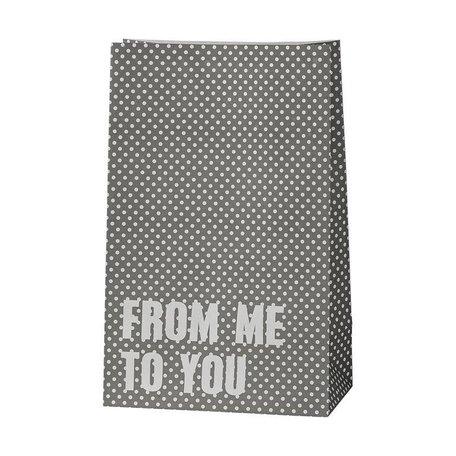 Paperbag stippen grijs