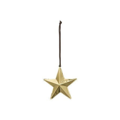 Ornament star gold small