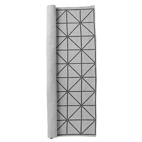 Vloerkleed met diagonaal print