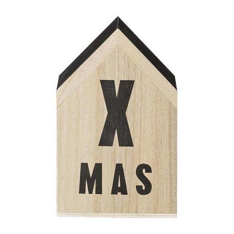 Bloomingville houten Xmas decoratie huisje