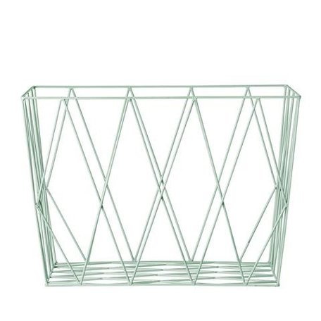 Iron storage basket mint