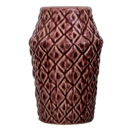 Vase Marsala red