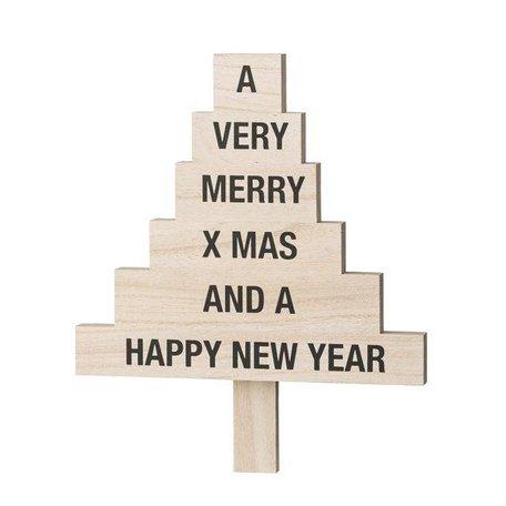 Houten Kerstboompje tekst