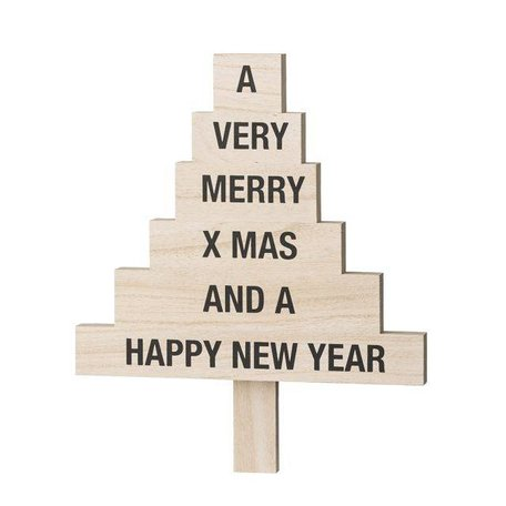 Wooden Christmas tree text