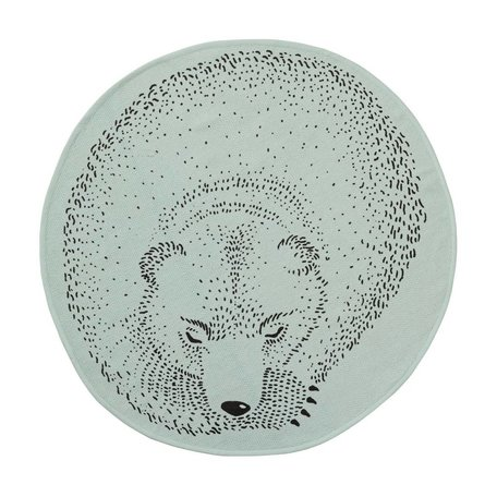 Mint rond vloerkleed Sleeping bear