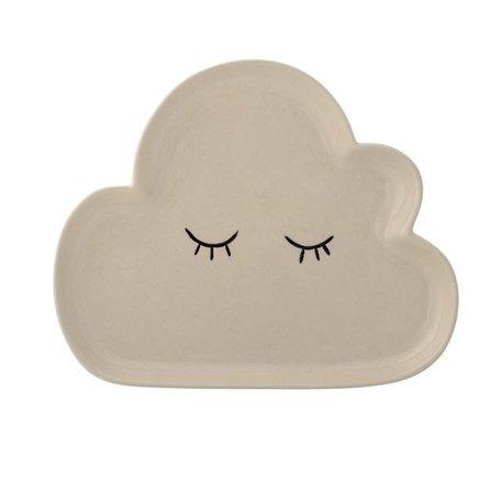 Porcelain clouds plate