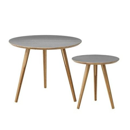 Set of 2 wooden tables grey