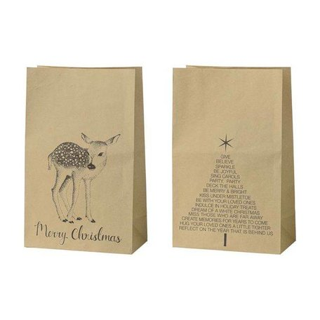 Set of 2 Xmas paperbag Deer / Christmas tree