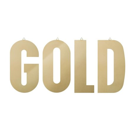 Set of 4 metal letters GOLD
