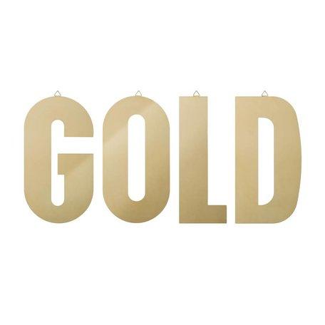 Set van 4 metalen letters GOLD