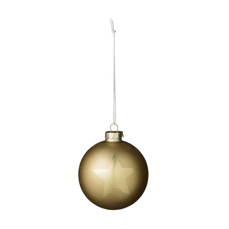 Set van 4 ster kerstballen goud