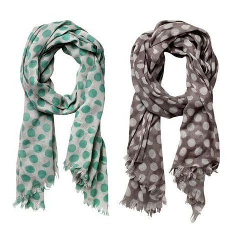 Scarf broken dots - green