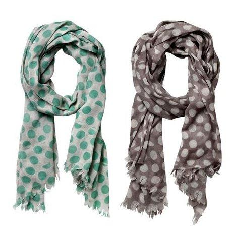 Sjaal broken dots - groen