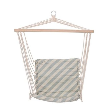 Fabric hanging chair diagonal stripe