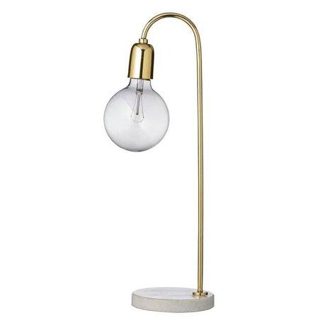 Tafellamp goud / marmer