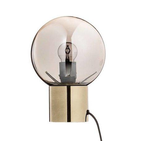 Tafellamp bol - zilver glas