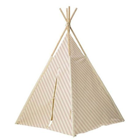 Tipi play tent - Nude striped