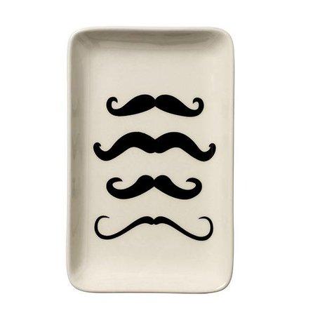 Square plate mustache