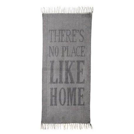 Carpet no place like home - grey