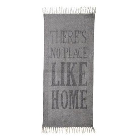 Vloerkleed no place like home - grijs