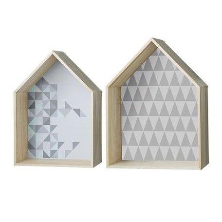 Wand display huis - set van 2 stuks