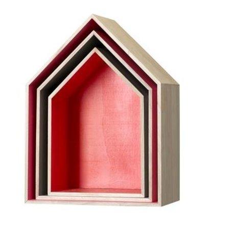 Muurdecoratie huis - set van 3 stuks
