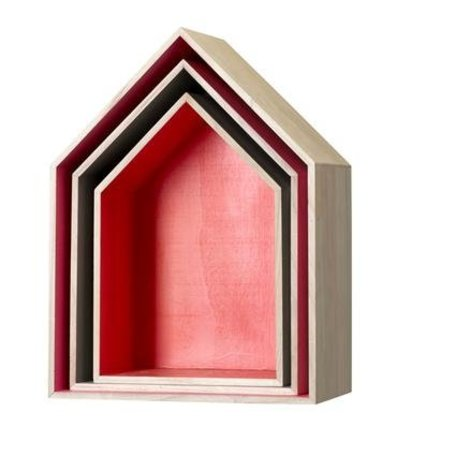 Wall decoration house - set of 3 pieces