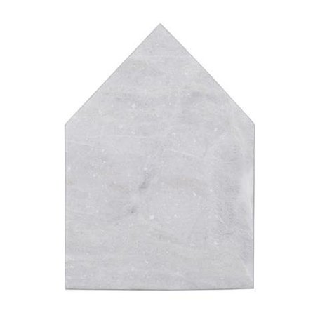 Cutting board house - white marble