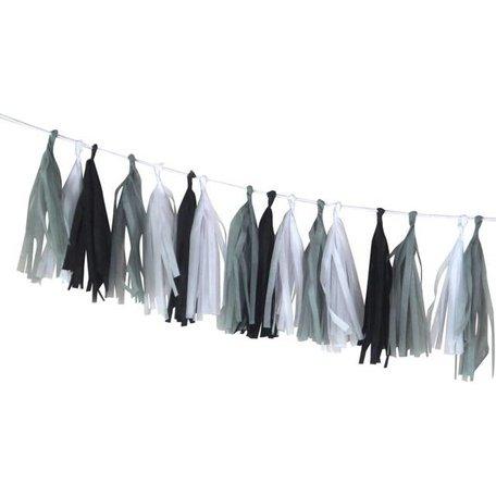 DIY slinger Tassel HIP wit, grijs, zwart
