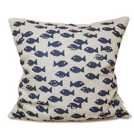 Kussenhoes  - Fish blue