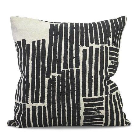 Cushion cover Logs - Black - Linen