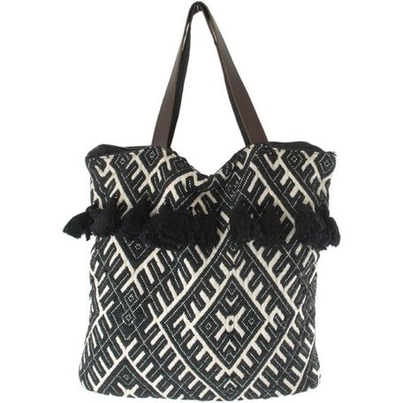Bag LJ Brussels - black / white - Bohemian