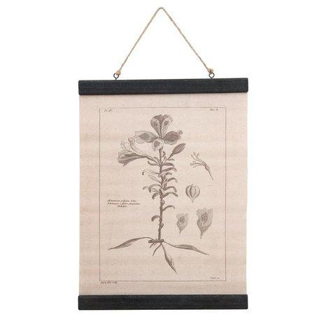 Canvas - wandhanger - Pelegonia - grijs