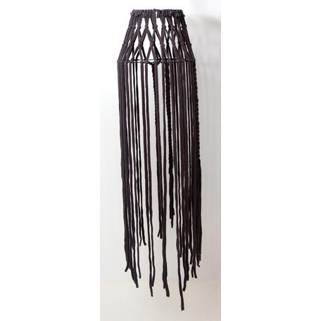 Lampshade Morocco - grey - fringes