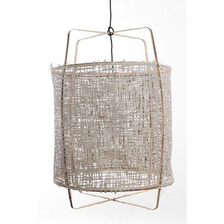 Lamp Z1 - zwart frame - grijs papieren cover