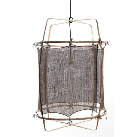 Lamp Z1 - black frame - hand-woven cover