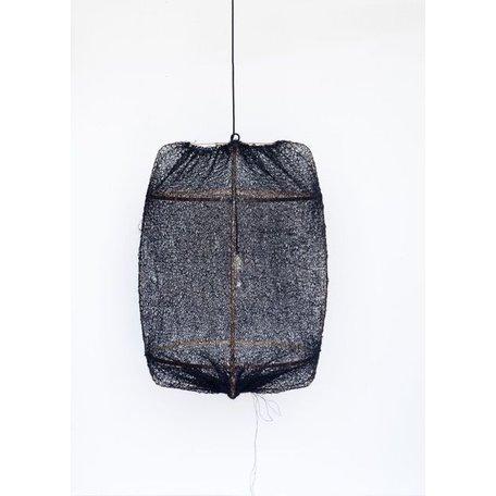Lamp Z1 - black frame - black sisal net