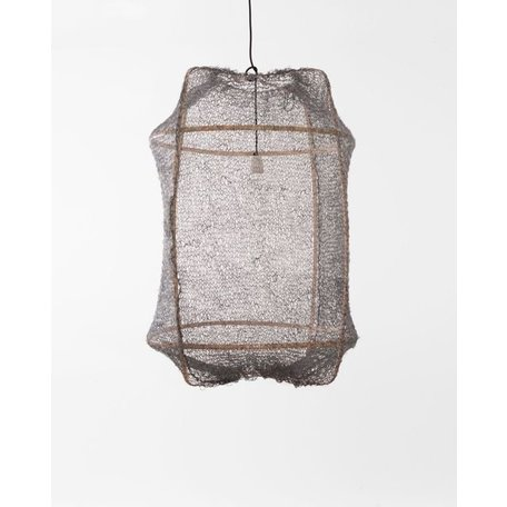 Hanging lamp - Z2 - blond frame - grey sisal net