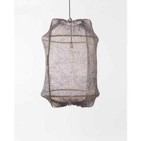 Hanglamp - Z2 - blond frame - grijs sisal net