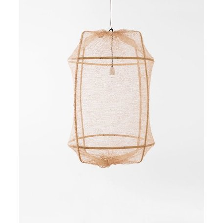 Hanging lamp - Z2 - blond frame - tea dyed net