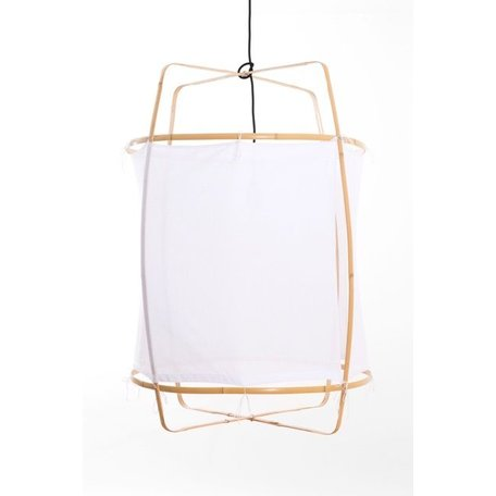 Lamp - Z2 - blond frame - white cotton cover